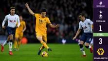¡Y en Wembley! Raúl Jiménez anota y concreta la remontada del Wolverhampton sobre el Tottenham