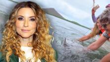 Issabela Camil conoce a 'Pechocho', el delfín que en libertad se niega dejar las aguas donde murió su madre