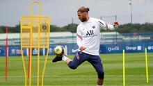 Sergio Ramos no entrenó y su debut con PSG se retrasa