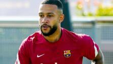 Memphis Depay realizó su primer entrenamiento con el Barcelona
