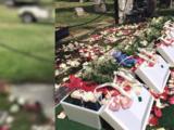 Dan sepultura a 9 cuerpos de bebés en el cementerio Mt. View de Fresno
