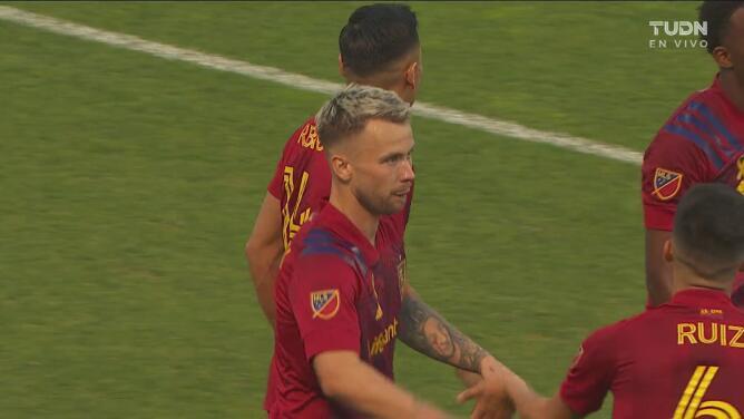 ¡Lo hizo ver fácil! Rusnák define perfecto para el 3-1 de Real Salt Lake