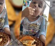(VIDEO) ¡Amén! Niña agradece a Dios por inventar los tacos de canasta y se hace viral
