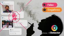 Es falso que la FDA aprobó los cigarrillos como lo hizo con la vacuna de Pfizer. Te explicamos cómo los controla