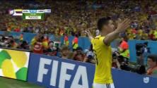 Golazo de James Rodríguez en el Mundial Brasil 2014