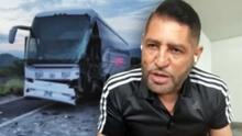 Pancho Barraza narra el pánico que vivió durante el choque de su autobús, pues su nieta viajaba con él