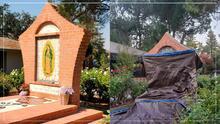 """""""Danos la Virgen"""": feligreses reclaman por retiro de la imagen de la Guadalupana"""