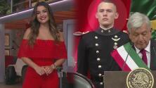 Clarissa le 'echó un ojito' al cadete que despertó suspiros en la toma de posesión de AMLO y lo sigue en redes