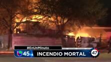 En Un Minuto Houston: Muere un desamparado en un incendio ocurrido en una vivienda abandonada del norte de Houston