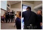 Captan en video incidente con hombre durante reunión con Round Rock ISD