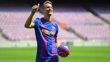 De Jong apunta a la titularidad con el Barça para el debut en Champions