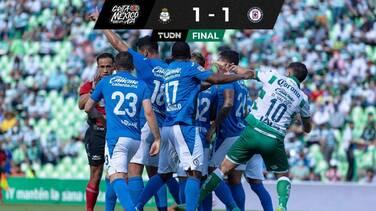 Cruz Azul sigue sin ganar y se encuentra un empate ante Santos