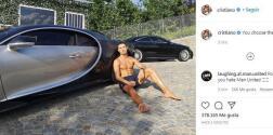 Cristiano publica foto presumiendo su nuevo auto de más de 3 millones euros