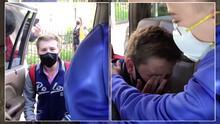 Entre lágrimas y emoción, dos niños se reúnen tras dos años sin verse por la pandemia