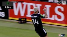 Diego Fagúndez vence al portero con un remate bombeado y acorta el marcador
