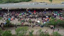 Desde el aire: así se vio la evolución día a día del campamento de migrantes en Del Río, Texas