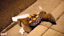 La historia de la foto viral de las botas que quedaron en el suelo tras el tiroteo en Las Vegas