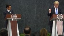 En un minuto: Trump se reunió con Enrique Peña Nieto en México horas antes de presentar su plan de inmigración en Arizona