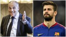 """Javier Tebas le pidió respeto a Piqué y lo corrigió: """"Hay que darle un cursillo de economía"""""""