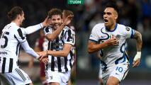 Juventus se lleva el Derbi de Turín; Inter remonta y persigue el liderato