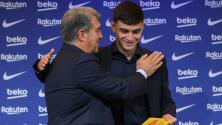 Laporta no se olvida de Messi y lo confunde con Pedri