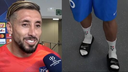 """HH festejó a México con calcetas tricolores en Champions: """"¡Viva México!"""""""