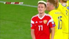 Tiro desviado de Aleksandr Golovin