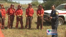 Prisioneros son entrenados para combatir incendios