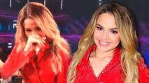 La reacción entre lágrimas que no viste en TV de Yennis Bencosme tras ganar Reina de la Canción