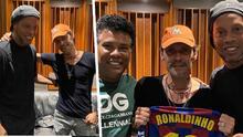 """""""Qué acabado se ve"""": Preocupación por la apariencia de Marc Anthony en foto con Ronaldinho"""