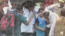 El vicepresidente de Colombia golpea a su escolta en la cabeza por empujar a una mujer