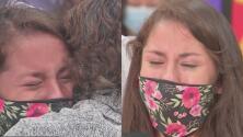 Con globos, carteles y abrazos, así fue el emotivo recibimiento en Houston de la dreamer Karumi Reyes