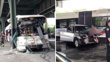 Reportan 14 heridos tras chocar un autobús contra un poste del subway en el Bronx