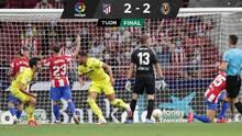 Sin Herrera, el Atlético empató en el último segundo ante el Villarreal