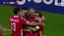 ¡GOOOL! Nikita Naumov anota para Belarus