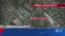 Una niña de cuatro años muere ahogada en Garland