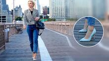 Irina Baeva presume los zapatos de 395 dólares que le prestó Sarah Jessica Parker para un 'shooting' en Nueva York