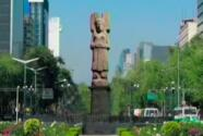 La señora de Amajac, escultura que reemplazará a Cristóbal Colón en la avenida Paseo de la Reforma de la CDMX