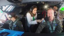 Maity Interiano joins hurricane hunter airplane crew tracking Dorian