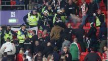 Fanáticos detenidos en Wembley por peleas e insultos racistas