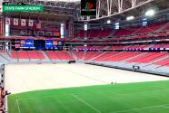¡Impresionante! Transformaron el campo de la NFL para el Tri