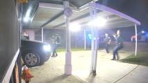 Video capta cuando policías matan a tiros a un sospechoso luego de que atropellara a un oficial