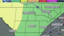 Probabilidad de tormentas severas para zonas al oeste de San Antonio