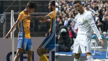 Jürgen Damm muestra en cada festejo su admiración por Cristiano Ronaldo