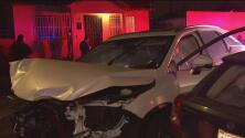 Una persecución policiaca termina en un accidente de tránsito múltiple