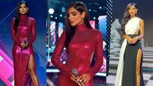 El fabuloso vestido de Alejandra Espinoza y otros looks que brillaron con luz propia en NBL