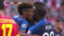 ¡GOOOL! Kingsley Coman anota para France