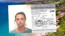 Se puso la Maderna y no Moderna: Arrestan a mujer por falsificar tarjeta de vacunación para ir a Hawái