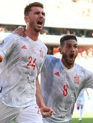 España golea a Eslovaquia 5-0 para asegurar el segundo lugar del grupo y calificar a Octavos en la Euro 2020. Con dos autogoles y tres por parte de Laporte (45+3'), Pablo Sarabia (56') y Ferrán Torres (67'), los españoles se sacan la espina y ahora enfrentarán a Croacia.