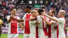 ¡Gol de Edson! El mexicano contribuyó en goleada del Ajax